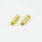 Preview: Ultimate RC Gold Stecker 5.0mm Male (2) Banana Connector 90°