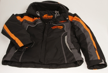 Winter-Jacke Serpent schwarz-orange hooded