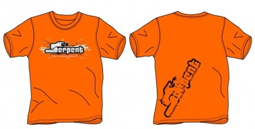 T-shirt Serpent Splash orange