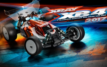 XRAY XB4 - 2017 SPECS - 4WD 1/10 ELECTRIC OFF-ROAD CAR