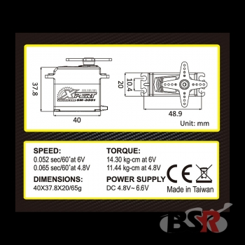 "Xpert-RC Brushless Digital Servo ""SM-3301"" ( 14,3kg / 0,05sek )"