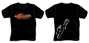 T-shirt Serpent Splash schwarz