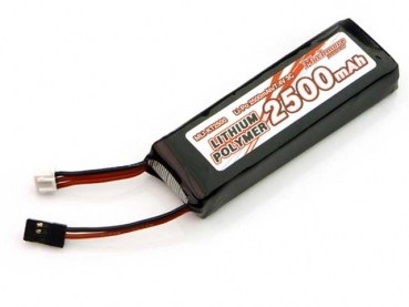 Muchmore LiPo Battery 2500mAh / 7.4V 3C Flat Size for Sanwa M12, MT4