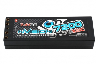 nVision Factory Pro Lipo 7200 100C 7.4V 2S Tubes