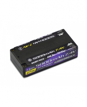 ARROWMAX AM Lipo 5000mAh 2S Shorty - 7.4V 55C Continuos 110C Burst