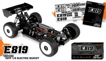 HB RACING E819 1/8 Competition Electric Buggy