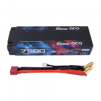 Gens ace Battery LiPo 2S HV 7.6V-7500-100C(5mm) 139x47x26mm 300g
