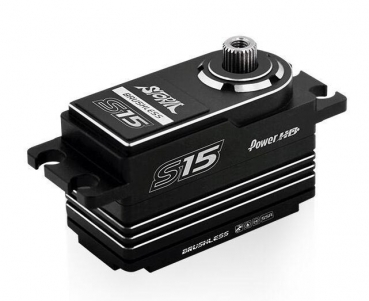 Power HD S15 Low Pro,HV,MG, brushless, alu case, SSR (15 KG/0.06 SEC)