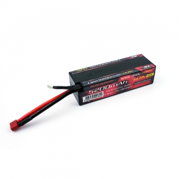AM Lipo 5200mAh 4S - 14.8V 55C Continuos 110C Burst wire with Deans SI-Graphene Gen. 3
