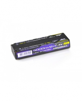 ARROWMAX AM Lipo 5000mAh 2S TC Low Profile - 7.4V 55C Continuos 110C Burst