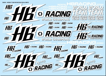 HB RACING World Team HB Racing Decals White