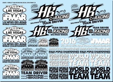 HB RACING World Team HB Racing Decals Commemorative