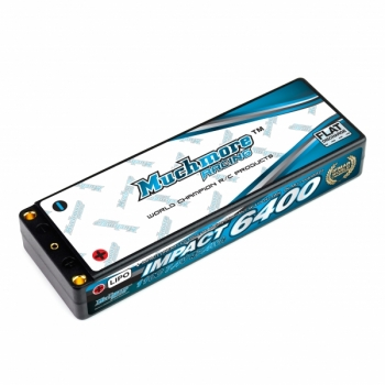Muchmore IMPACT 6400mAh/7.4V 110C Linear LCG Li-Po Battery Flat Hard Case FD2