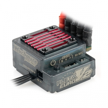 Muchmore Fleta V2 Euro Brushless ESC - Black/Red (High Current BEC Ver.)