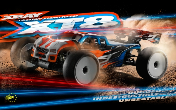 XRAY XT8 - 2017 SPECS - 1/8 LUXURY RACING TRUGGY