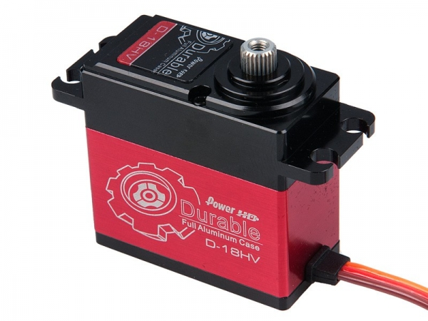 Power HD High Voltage Digital Servo Durable Alu-Gehäuse # D-18HV