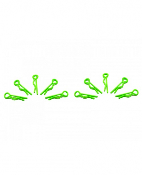 ARROWMAX  small body clip 1/10 - fluorescent green (10)