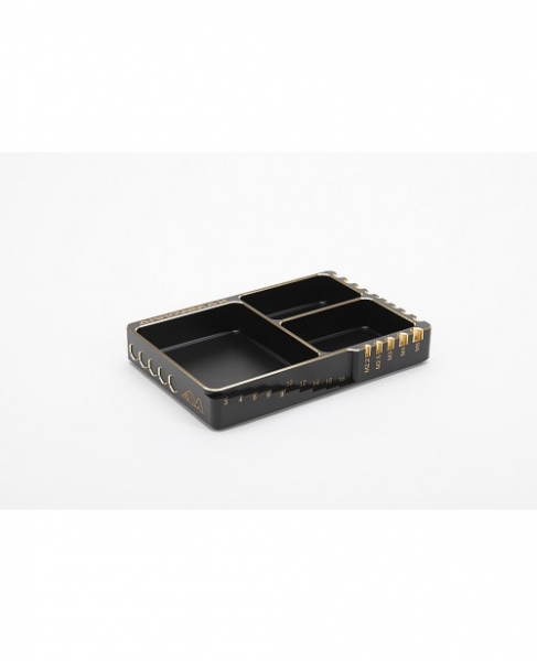 ARROWMAX Multi Alu Case For Screws (120X80X18MM) Black Golden