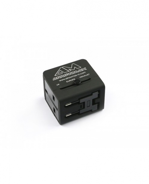 ARROWMAX Multi-Nation Travel Adapter With USB Charger
