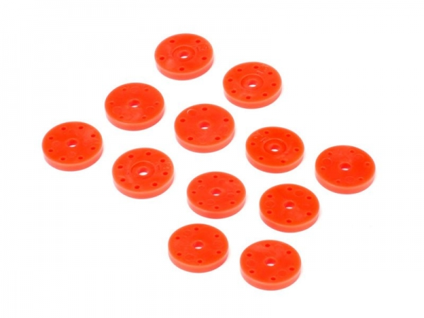 Hot BODIES Kolbenplatten Set V2 16mm orange (6 Paar)