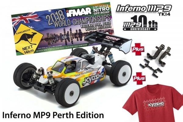KYOSHO INFERNO MP9 TKI4 10TH ANNIVERSARY PERTH EDITION